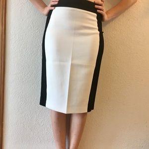 Super stylish black and white pencil skirt
